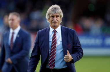 Manuel Pellegrini is delighted with the performance against Manchester United.