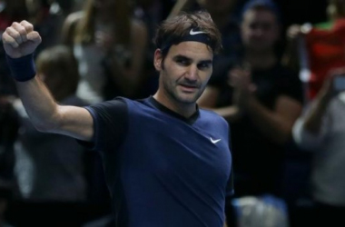 La décontraction de Federer après sa victoire (AP Photo/Tim Ireland)