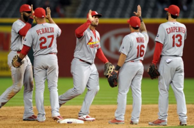 The St. Louis Cardinals find ways to win, no matter what nine guys are out on the field. -- Photo courtesy of Ken Blaze-USA TODAY Sports.