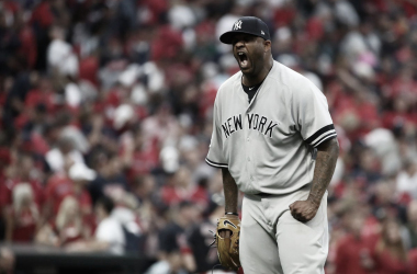 Sabathia durante un partido entre Yankees y Red Sox / Foto: Getty Images