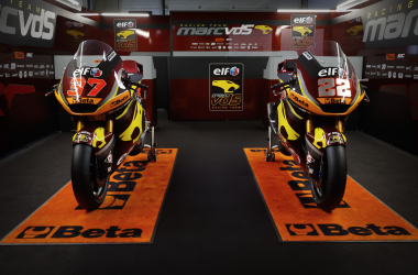 Las motos del equipo Elf Mar van der Straten 2021. Foto: Racing Team MarcVDS oficial