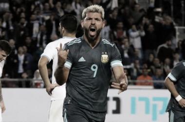 """Sergio """"El Kun"""" Agüero- Partido amistoso Argentina 2- Uruguay 2"""