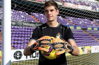 Raúl Fernández, nuevo portero del Mirandés. (Fotografía: Real Valladolid).