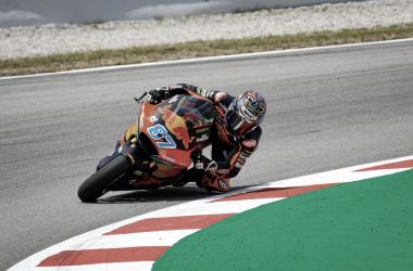 Remy Gardner durante la carrera en Cataluña / Fuente: motogp.com