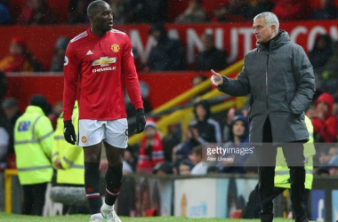 Lukaku and Mourinho during the Brighton victory | Photo: Alex Livesey / Stringer