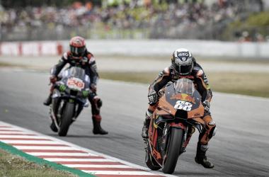 Miguel Oliveira y Fabio Quartararo durante la carrera de Cataluña / Foto: motogp.com