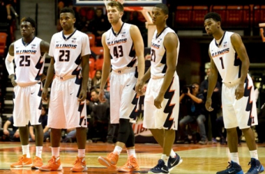 UIC Flames - Illinois Fighting Illini Live Update And Score Of 2015 College Basketball (79-83)