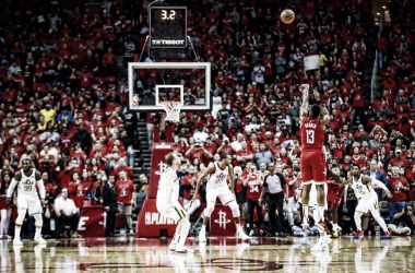 Com a vitória, o Houston Rockets abre 1 a 0 na série (Foto: Divulgação/Rockets)