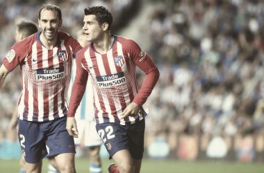 Morata celebra su primer gol ante la Real Sociedad    FOTO: Club Atlético de Madrid
