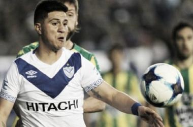 Cristaldo en el encuentro contra Aldosivi | Fuente Velez Sarsfield Oficial