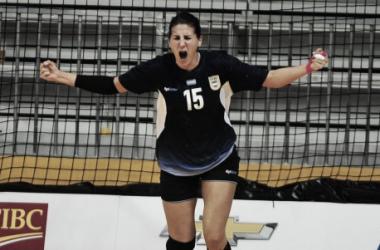Antonela Mena festejando un gol en los Panamericanos (Foto: Web)