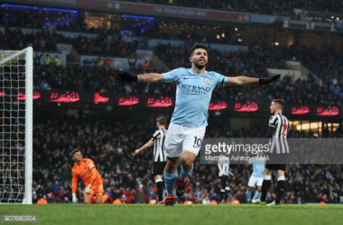 Manchester City 3-1 Newcastle United: Aguero hat-trick powers City to victory
