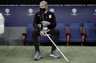 "Óscar Tabárez en su séptima Copa América dirigiendo la ""Celeste"""