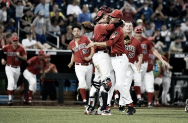 Arizona Celebrates After Their 3-0 Over UC Santa BarbaraPhoto: Ted Kirk, AP