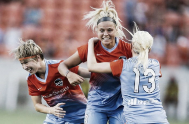 Rachel Daly leads the Houston Dash in goals (photo courtesy of Houston Dash)