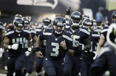 Seattle Seahawks quarterback Russell Wilson leads his team out of the tunnel for a preseason NFL football game against the Minnesota Vikings, Thursday, Aug. 18, 2016, in Seattle. (APPhoto/Elaine Thompson)