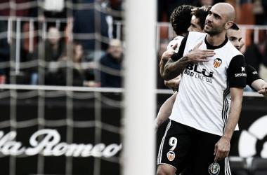Zaza marcou um dos gols do Valencia (Foto: Jose Jordan/AFP)