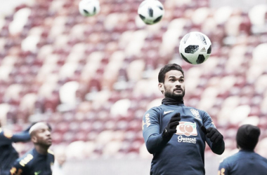 Willian José en un entrenamiento con Brasil / Foto: MD