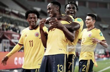 Juan Guillermo Cuadrado; Yerry Mina; Duván Zapata; Stefan Medina&nbsp;<div>(Selección Colombiana).</div>