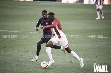 Ousmane Dembélé en el partido de la primera vuelta | Foto de Noelia Déniz, VAVEL