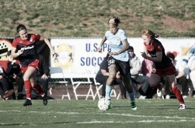 Tasha Kai looks to lead the Sky Blue past the Washington Spirit. (Photo courtesy of Sky Blue FC)