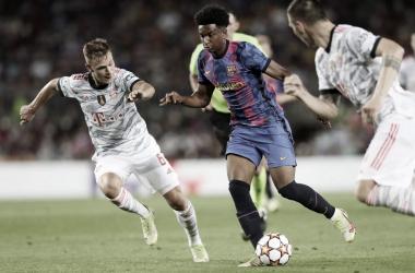 Álex Balde contra el Bayern de Múnich, debut oficial| Foto: FC Barcelona