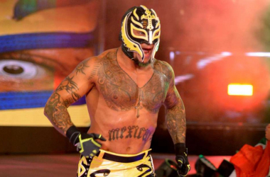 Rey Mysterio makes his way to ring at the 2018 Royal Rumble  photo credit: WWE