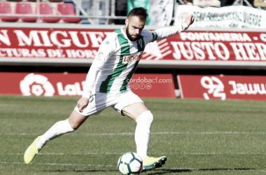 Edu Ramos golpeando un balón | Fotografía: Córdoba CF