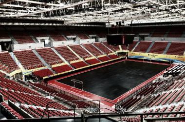 La pista negra ya se encuentra en el Pabellón Príncipe Felipe. Foto:twitter.com/UEFAFutsal