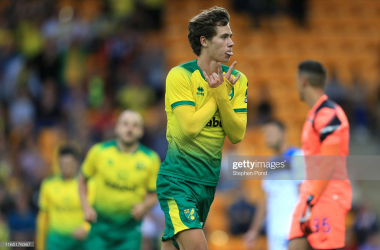 Todd Cantwell scored to give Norwich the lead against Atalanta but the Canaries ultimately lost 4-1 (Getty Images)