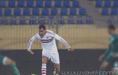 احمد عيد فى مباراة الزمالك أمام الإتحاد