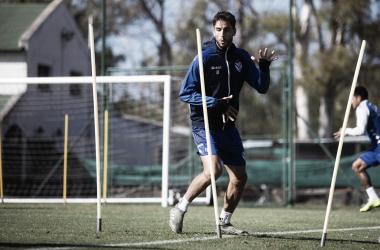 Ricardo Álvarez entrenando de cara al duelo por Copa. Foto: Velez.com