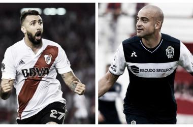 River vs. Gimnasia - Pratto vs. Silva.