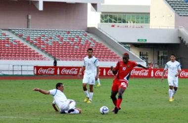 El delantero de Belice, Harrison Róchez, estuvo activo durante el histórico partido (Dennis Fajardo)