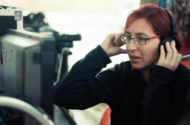 Macarena Astorga durante el rodaje de 'Tránsito'. / Fotos: Caleidoscopio Films y VAVEL.