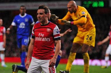 El Everton frena al Arsenal en un trabajado partido