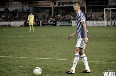 Llorente en uno de los encuentros con la Real |Imagen: Gio Batista / VAVEL