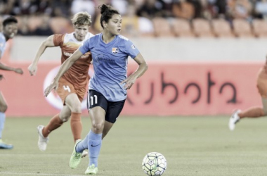 Midfielder Raquel Rodriguez has emerged as the top young players in the NWSL (photo courtesy of Sky Blue FC)