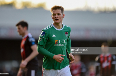 3 May 2019; Sean McLoughlin of Cork City during the SSE Airtricity League Premier Division match between Bohemians and Cork City at Dalymount Park in Dublin. (Photo by Ben McShane via Getty Images.)