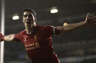 Luis Suárez celebrando un gol con el Liverpool   Imagen: Liverpool FC
