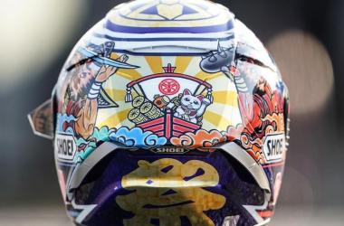Helm Desain Baru Marc Marquez Untuk Pesta Gelar Juara Dunia di Motegi?