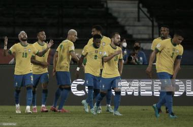 Fiesta brasilera en el estadio Nilton Santos. Foto: GettyImages