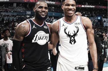 Lebrón James y Giannis Antetokounmpo fueron los capitanes en la edición pasada. Foto: NBA.com