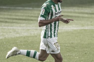 Canales celebrando su segundo tanto | Foto: La Liga