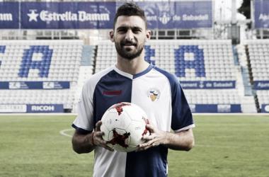 Arturo, nuevofutbolista del Sabadell   Foto: Sandra Dihör - CE Sabadell