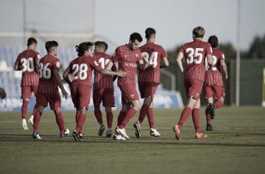 Foto: Sevilla FC. Idrissi tras su gol frente al Conventry