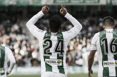 El colombiano Narvaez celebra su gol en la pasada jornada (FOTO: LaLiga)