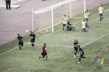 Gol ante Las Palmas que le dio el ascenso al Córdoba CF en 2014 (FOTO: LaLiga)