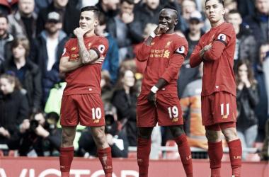 Il trio peso piuma dei Reds | Twitter@LFC