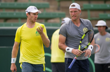 John Peers (left) and Sam Groth could hold the key to an Australia win/Photo: AAP